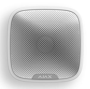 AJAX StreetSiren White (Беспроводная уличная сирена, белая)