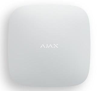AJAX Hub White (Интеллектуальная централь - 2 канала связи (GSM + Ethernet), белая)