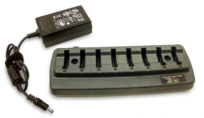 Honeywell ASSY: 8 Bay Battery Charger With Power Supply. Charges battery only when removed from Bluetooth Ring Scanner module and 1602g scanner.