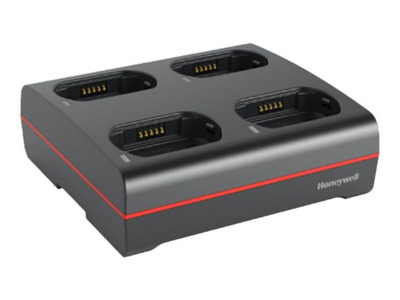 Honeywell ASSY: 4 Bay 8680i Wearable Mini Mobile Charger. Charges complete 8680i unit with Extended or Slim battery installed. Cord must be ordered separately.