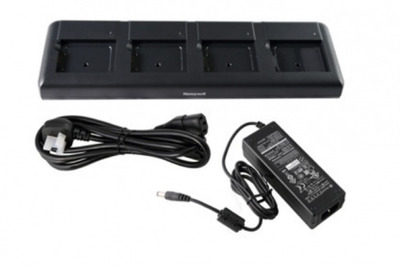 Honeywell ASSY: EDA50K Quad Charger - EU Kit. Four-slot battery charging station. Includes EU power cord and power supply