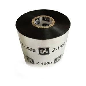 Zebra Wax Ribbon, 110mmx450m (4.33inx1476ft), 1600; Standard, 25mm (1in) core, 18/box