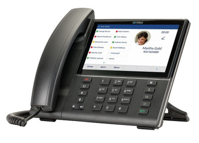 """MITEL 6873i SIP Phone 7"""" 800x480 touchscreen, BT 4.0, USB, 24 lines, 2*1G ethernet (no power supply included)"""