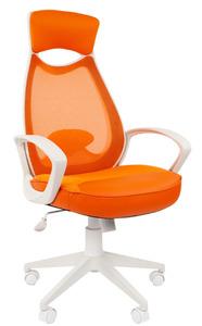 Офисное кресло Chairman 840 Россия белый пластик TW16TW-66 оранжевый