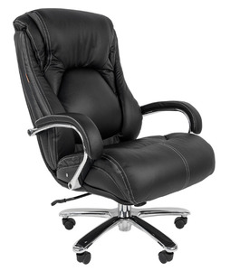 Офисное кресло Chairman 402 Россия кожа черная