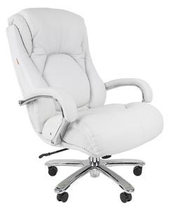 Офисное кресло Chairman 402 Россия кожа белая