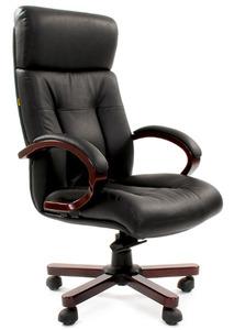 Офисное кресло Chairman 421 Россия кожа черная