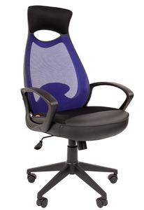 Офисное кресло Chairman 840 Россия черный пластик TW-05 синий