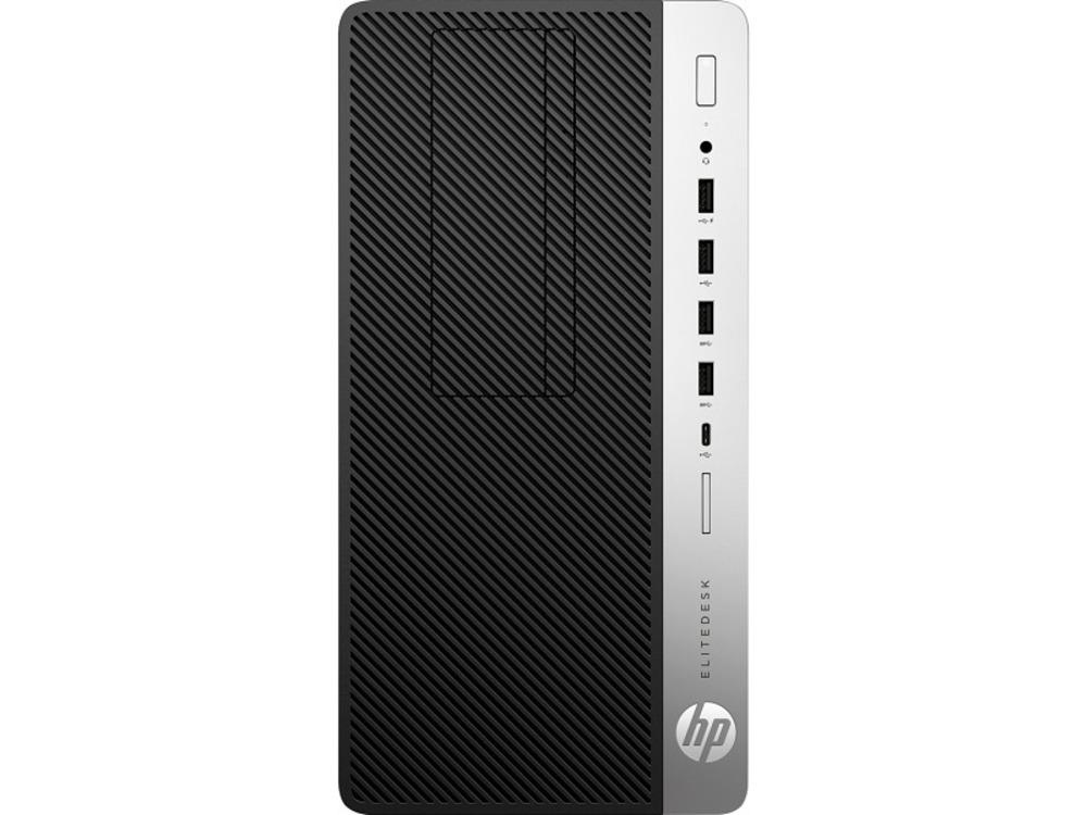 HP EliteDesk 705 G4 MT AMD Ryzen 5 Pro 2400G (3.6-3.9GHz,4 Cores),16Gb DDR4-2666(1),256Gb SSD,DVDRW,USB Slim Kbd+USB Mouse,VGA,3y,Win10Pro