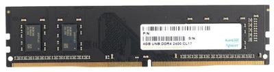 Apacer DDR4 4GB 2400MHz UDIMM (PC4-19200) CL17 1.2V (Retail) 512*8 (AU04GGB24CETBGH / EL.04G2T.KFH)