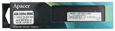 Apacer DDR4 4GB 2666MHz UDIMM (PC4-21300) CL17 1.2V (Retail) 512x8 (AU04GGB26CQTBGH / EL.04G2V.KNH)