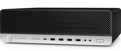 HP EliteDesk 800 G5 SFF Core i5-9500 3.0GHz,16Gb DDR4-2666(1),512Gb SSD,DVDRW,USB Kbd+USB Mouse,DisplayPort,3/3/3yw,Win10Pro