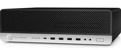 HP EliteDesk 800 G5 SFF Core i7-9700 3.0GHz,16Gb DDR4-2666(1),512Gb SSD,DVDRW,USB Kbd+USB Mouse,DisplayPort,3/3/3yw,Win10Pro