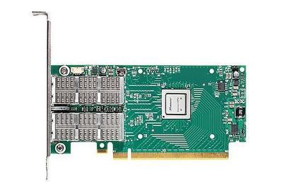 Mellanox ConnectX®-4 VPI adapter card, FDR IB (56Gb/s) and 40/56GbE, dual-port QSFP28, PCIe3.0 x8, tall bracket, ROHS R6