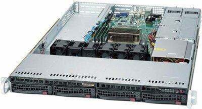 Supermicro SuperServer 1U 5019S-WR no CPU(1) E3-1200v5/6thGenCorei3/ no memory(4)/ on board RAID 0/1/5/10/no HDD(4)LFF/ 2xGE/ 2xPCIEx8,1xPCIEx4,1xM.2 connector/ 2Rx500W