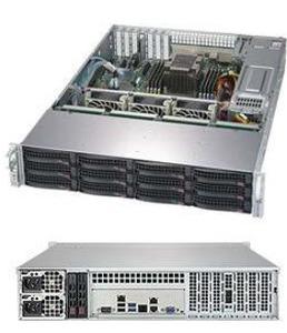 Supermicro SuperStorage 2U Server 5029P-E1CTR12L noCPU(1)Scalable/TDP 70-205W/ no DIMM(8)/ 3008RAID HDD(12)LFF + opt. 2SFF/ 2x10Gbe/ 4xLP/ 2x800W