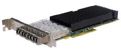 Silicom 10Gb PE310G4SPI9LA-XR Quad Port SFP+ 10 Gigabit Ethernet PCI Express Server Adapter X8 Gen3 , Low Profile, Based on Intel 82599ES, Support Direct Attached Copper cable