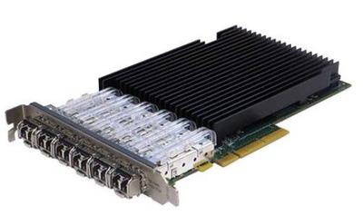 Silicom 1Gb PE2G6SFPI35-R Six Port SFP Gigabit Ethernet PCI Express Server Adapter X8, PCI Express Gen2, Based on Intel i350, standard height, short PCI