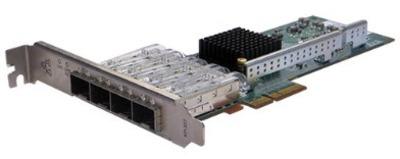 Silicom 1Gb PE2G4SFPI35L Quad Port SFP Gigabit Ethernet PCI Express Server Adapter X4, Based on Intel i350AM4, RoHS compliant