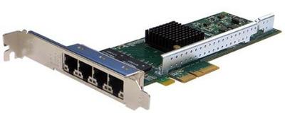 Silicom 1Gb PE2G4I35L Quad Port Copper Gigabit Ethernet PCI Express Server Adapter X4, Based on Intel i350AM4, Low-Profile, RoHS compliant (analog I350T4V2)