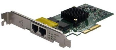 Silicom 1Gb PE2G2I35 Dual Port Copper Gigabit Ethernet PCI Express Server Adapter X4, Based on Intel i350AM2, Low-Profile, RoHS compliant (analog I350T2V2)