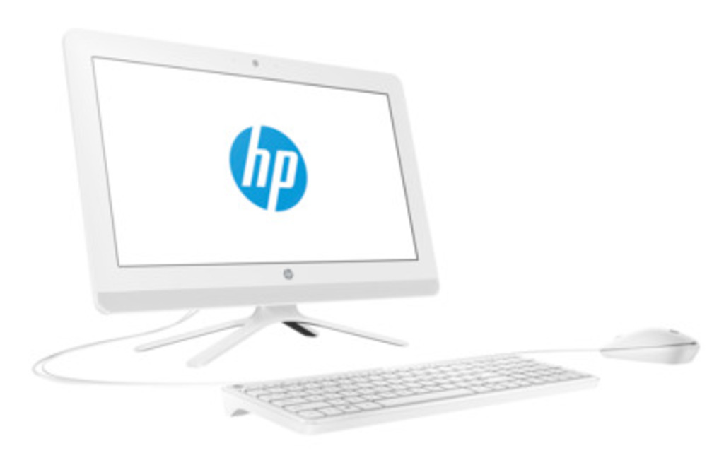 "HP 20-c401ur NT 19,5"" (1920x1080) Intel Celeron J4005, 4GB DDR4-2133 SODIMM (1x4GB), 500GB, Intel HD Graphics 600, DVD-RW, USB kbd&mouse, VGA webcam, Snow White, DOS, 1Y Wty"