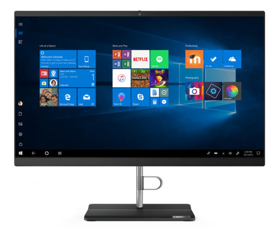 """Lenovo V540-24IWL All-In-One 23,8"""" i3-8145U 8Gb 256GB_SSD_M.2 Intel UHD 620 DVD±RW 2x2AC+BT USB KB&Mouse Win 10 Pro64-RUS 1YR Carry-in"""