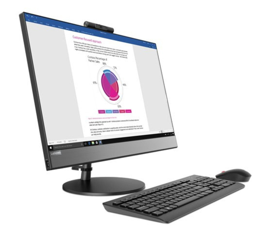 """Lenovo V530-24ICB All-In-One 23,8"""" i5-9400T 8Gb 1TB/5400rpm Int. DVD±RW AC+BT USB KB&Mouse Win 10 Pro64-RUS 1YR Onsite"""