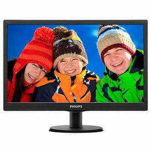"18,5"" Philips 193V5LSB2 1366x768 TN LED 16:9 5ms VGA 10M:1 90/65 200cd Black"