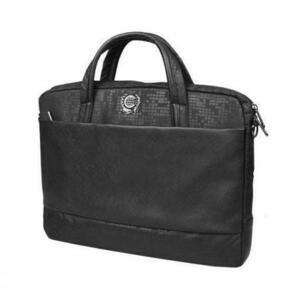 Компьютерная сумка Continent (16) CC-037 Black, цвет чёрный, полиэстр/эко-кожа