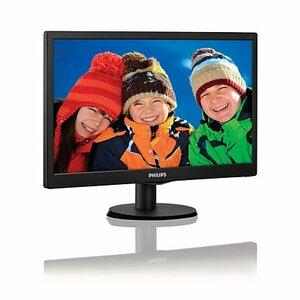 "19,5"" Philips 203V5LSB26 1600x900 TN LED 16:9 5ms VGA 10M:1 90/50 200cd Black"