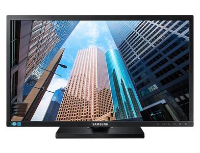 """Samsung 24"""" S24E650DW PLS LED 16:10 1920x1200 4ms 250cd 1000:1 178/178 D-sub DVI DP USB Has Pivot Tilt Black"""