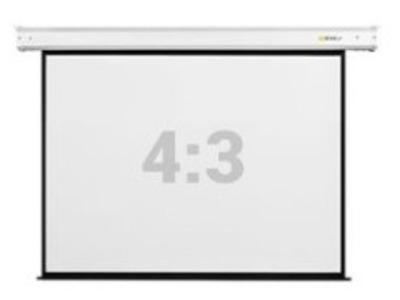 """Экран настенный с электроприводом Digis DSEF-4306, формат 4:3, 180"""" (368x286), MW, Electra-F"""