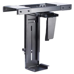 ErgoFount BPCH-05 Подставка для системного блока под стол с выдвижением и вращением, до 10 кг. Черный.