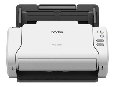 Документ-сканер Brother ADS-2700W, A4, 35 стр/мин, 512Мб, цветной, дуплекс, DADF50, сенс.экран, LAN, WiFi, USB, Presto!® BizCard OCR