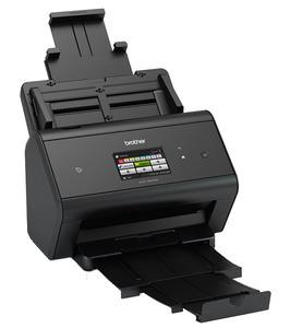 Документ-сканер Brother ADS-3600W, A4, 50 стр/мин, 512Мб, цветной, дуплекс, DADF50, сенсорный экран, WiFi, USB3.0, NFC, FineReader