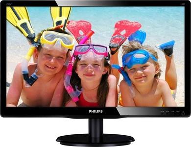 "18,5"" Philips 193V5LSB2 1366x768 TN LED 16:9 5ms VGA 10M:1 90/65 200cd Black (193V5LSB2/62)"