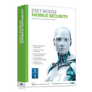 ПО Eset NOD32 NOD32 Mobile Security 3 устройства 1 год Base Box