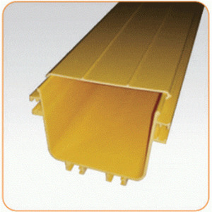 Крышка прямой секция оптического лотка, 100x120 мм, 2 метра, желтая
