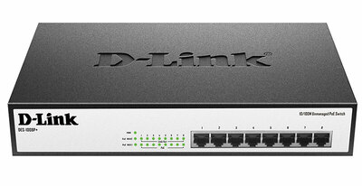 D-Link DES-1008P+/A1A, Ethernet Unmanaged Switch with 8 10/100-BaseTX PoE ports