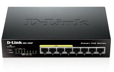 D-Link DES-1008P/C1A, L2 Unmanaged Switch with 8 10/100Base-TX ports (4 PoE ports 802.3af (15,4 W), PoE Budget 52 W).1K Mac address, Auto-sensing, 802.3x Flow Control, Stand-alone, Auto MDI/MDI-X for